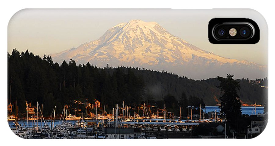 Gig Harbor Washington IPhone X Case featuring the photograph Gig Harbor by David Lee Thompson