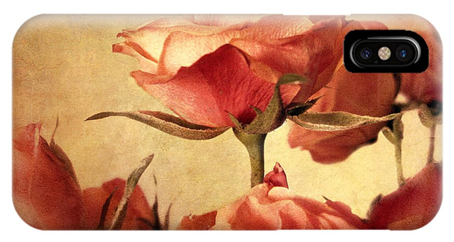 Flowers IPhone X Case featuring the photograph Gilded Roses by Jessica Jenney
