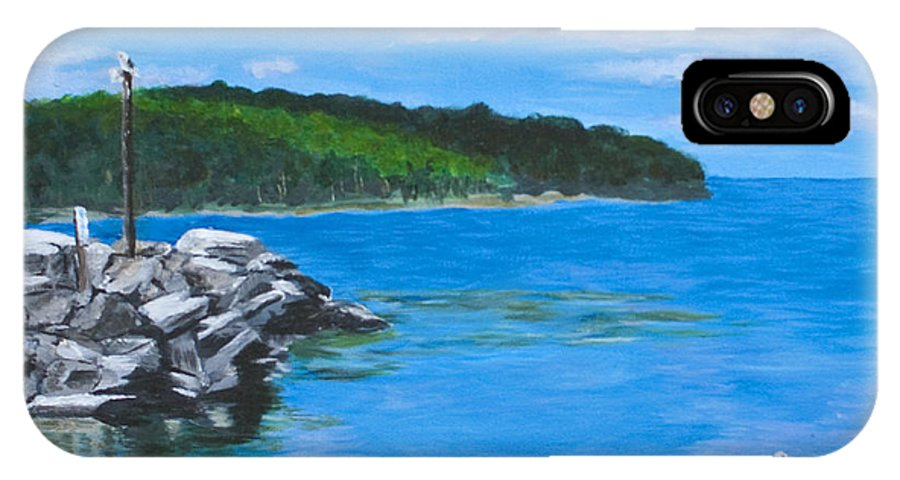 Gills Rock IPhone Case featuring the painting Gills Rock by Peggy King