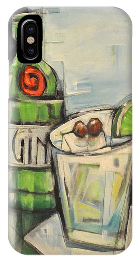 Gin IPhone X Case featuring the painting Gin Gimlet by Tim Nyberg