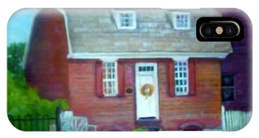 Revell House IPhone X Case featuring the painting Gingerbread House by Sheila Mashaw