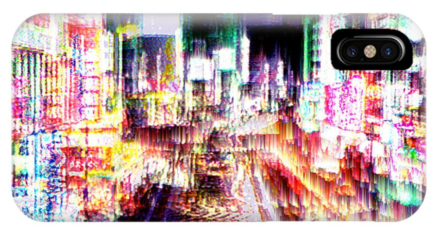 Tokyo IPhone Case featuring the digital art Ginsa Glitz by Seth Weaver