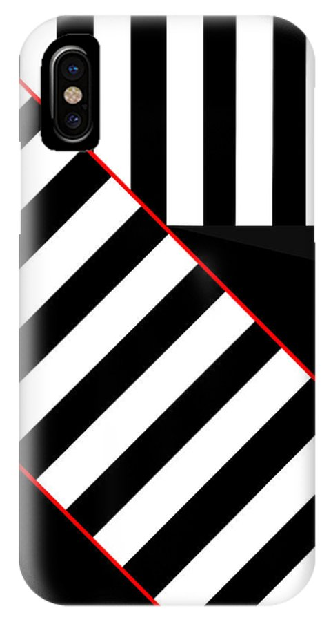 IPhone X Case featuring the digital art Ginza The Babel Legend by Asbjorn Lonvig