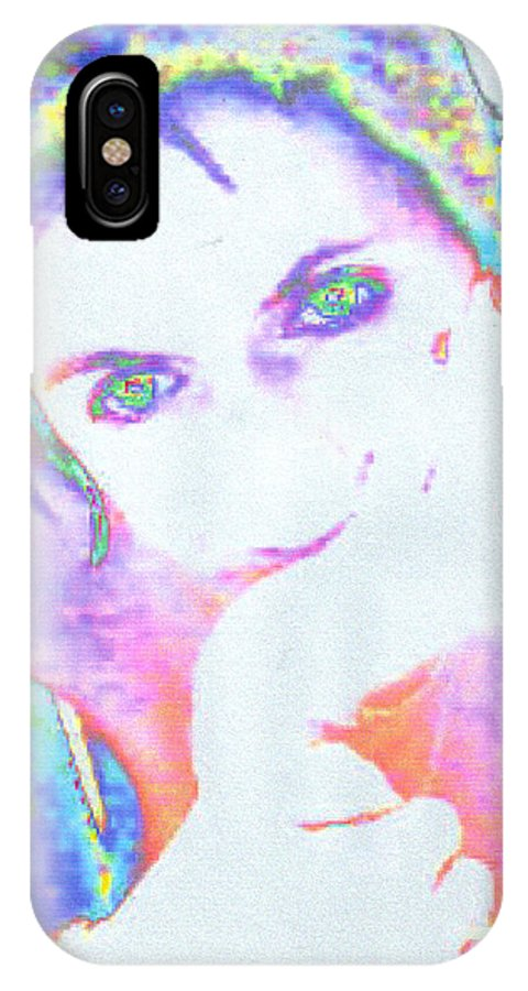 Portrate Of A French Girl IPhone X Case featuring the photograph Gisele by Dawn Johansen