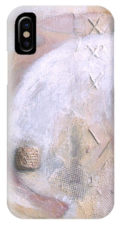 Collage IPhone X Case featuring the painting Give And Receive by Kerryn Madsen-Pietsch