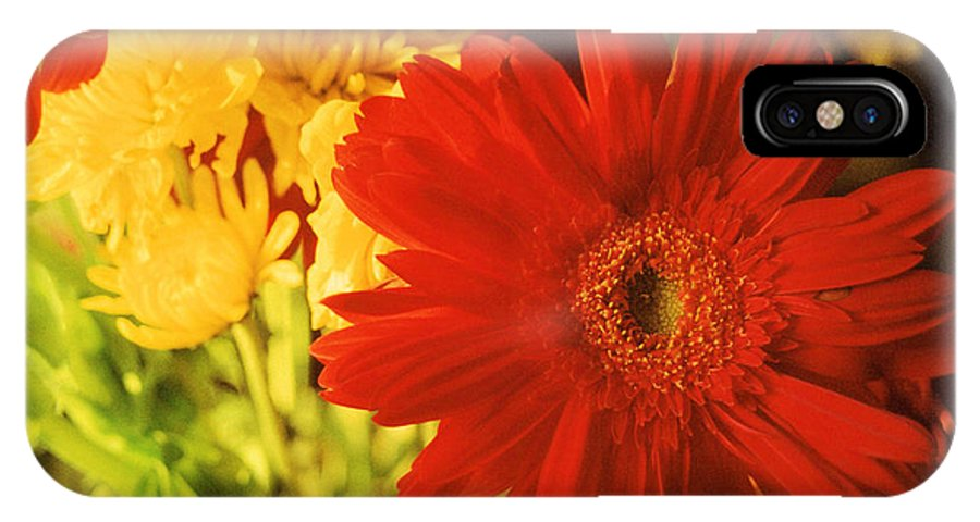 Floral IPhone X Case featuring the photograph Give It Your All by Jan Amiss Photography
