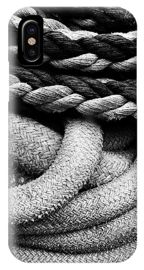 Give Them Some Rope IPhone X Case featuring the photograph Give Them Some Rope by Skip Hunt