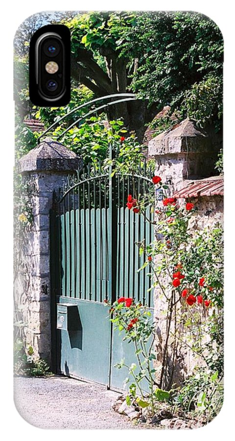 Giverny IPhone X Case featuring the photograph Giverny Gate by Nadine Rippelmeyer