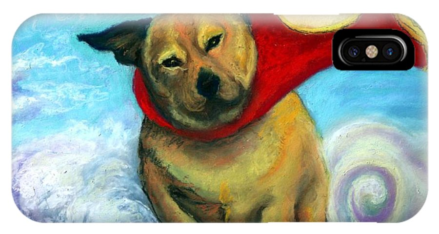 Dog IPhone X Case featuring the painting Gizmo The Great by Minaz Jantz