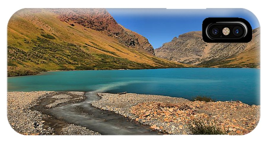 Cracker Lake IPhone X / XS Case featuring the photograph Glacier Cracker Lake by Adam Jewell