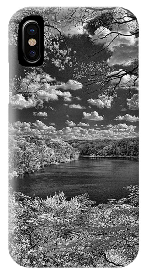 Infrared IPhone X Case featuring the photograph Glacier Lake by Michael McGowan