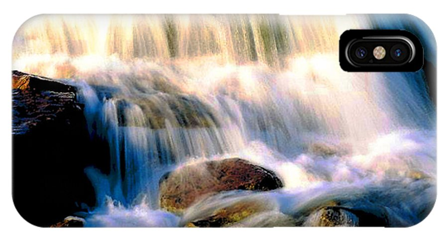 Glacier IPhone X Case featuring the photograph Glacier National Park Waterfall by Vicky Brago-Mitchell