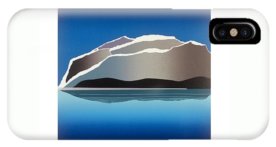 Landscape IPhone X Case featuring the mixed media Glaciers by Jarle Rosseland