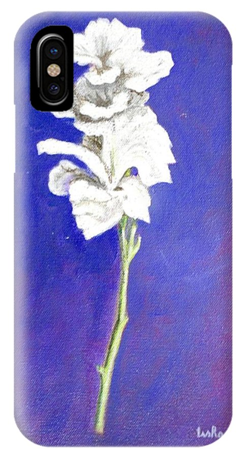 Flower IPhone X Case featuring the painting Gladiolus 1 by Usha Shantharam