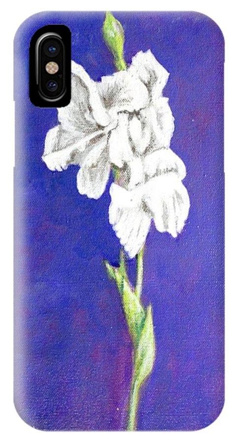 IPhone Case featuring the painting Gladiolus 2 by Usha Shantharam