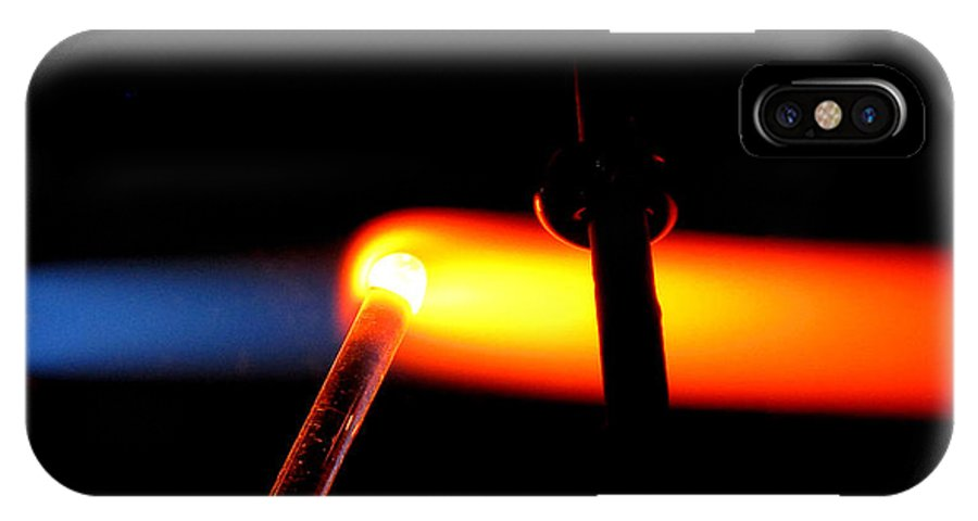 Flame IPhone X / XS Case featuring the photograph Glass Bead Making by Sarah Houser
