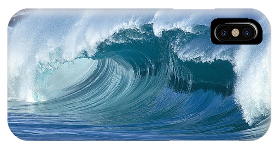 A31b IPhone X Case featuring the photograph Glassy Conditions by Vince Cavataio - Printscapes