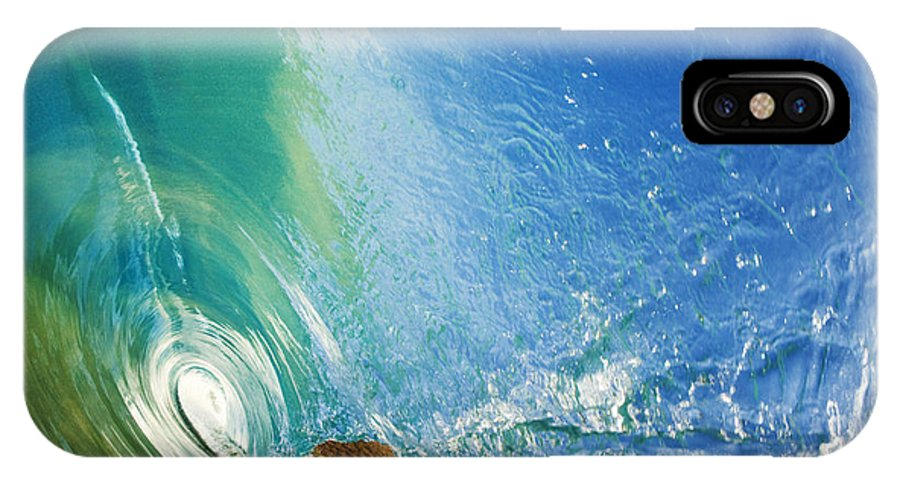 Amazing IPhone X Case featuring the photograph Glassy Wave Tube by MakenaStockMedia - Printscapes