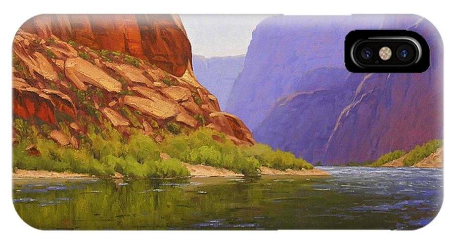 Cody Delong IPhone X Case featuring the painting Glen Canyon Morning by Cody DeLong