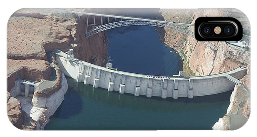 Colorado River IPhone X Case featuring the photograph Glen Echo Dam by Carl Purcell