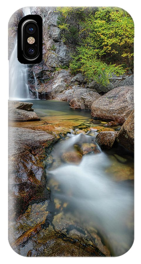 New England Fall Foliage IPhone X Case featuring the photograph Glen Ellis Falls Autumn by Bill Wakeley