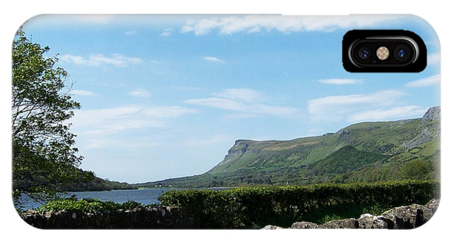 Irish IPhone X Case featuring the photograph Glencar Lake With View Of Benbulben Ireland by Teresa Mucha