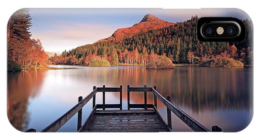 Loch IPhone X / XS Case featuring the photograph Glencoe Lochan by Grant Glendinning