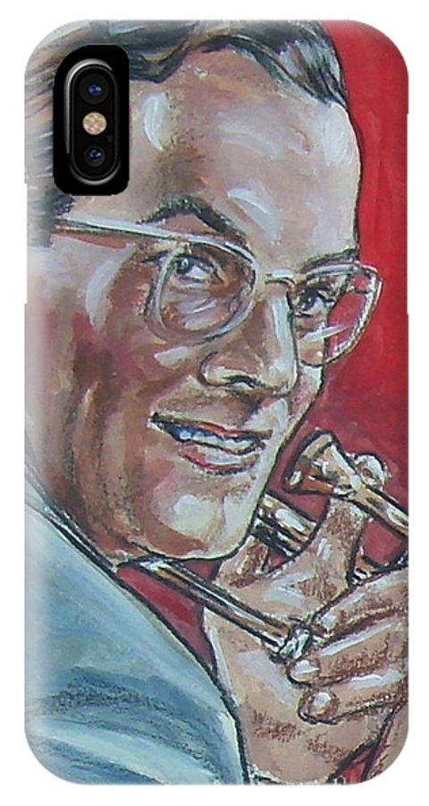 Glenn Miller IPhone X Case featuring the painting Glenn Miller by Bryan Bustard