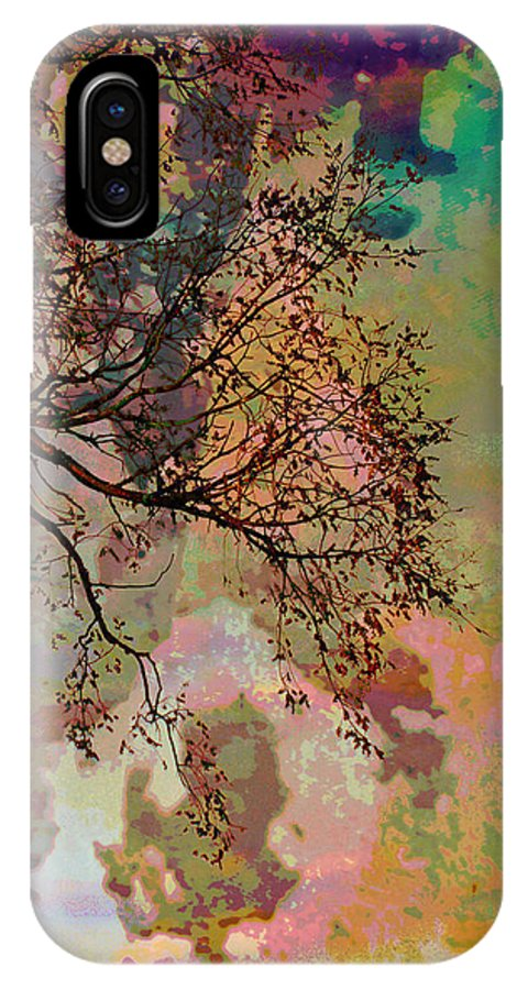 Trees IPhone X Case featuring the photograph Glimpse by Jan Amiss Photography
