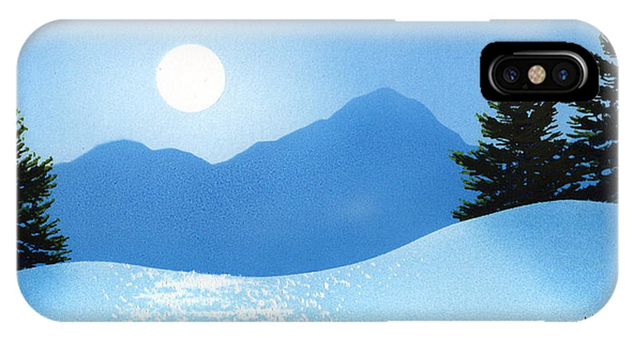 Glistening Snow IPhone Case featuring the painting Glistening Snow by Frank Wilson