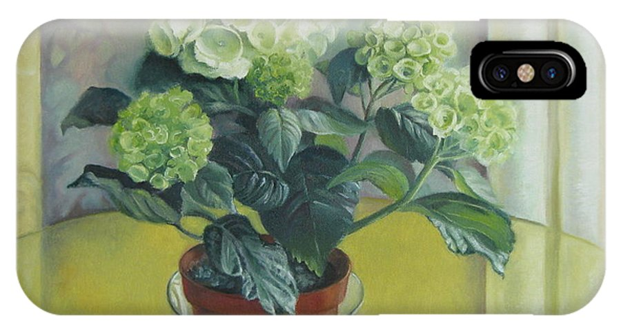 Still Life IPhone Case featuring the painting Gloomy Spring by Elena Oleniuc