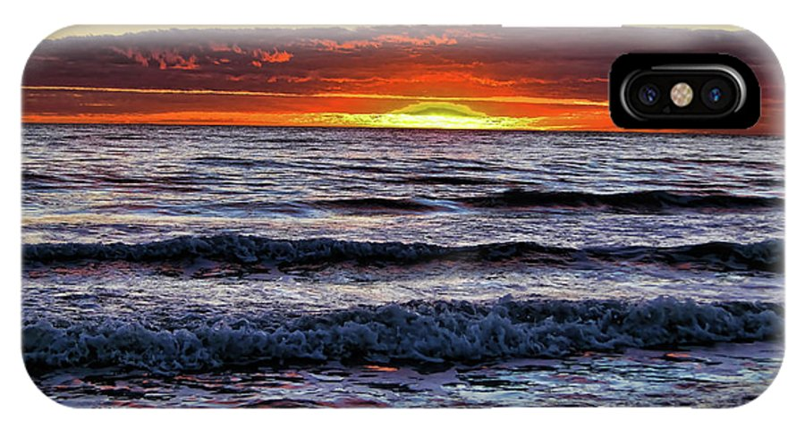 Sunset IPhone X Case featuring the photograph Glorious Sunset by Douglas Barnard