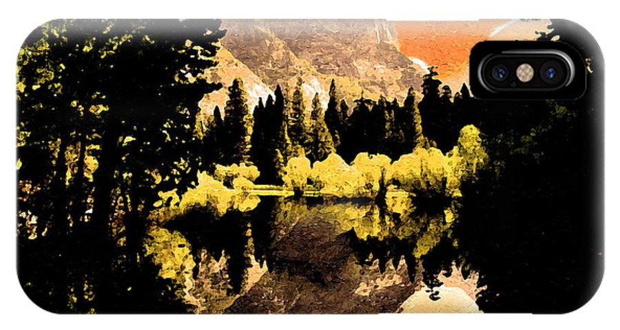 Landscapes IPhone X Case featuring the painting Glorious Yosemite by Anthony Caruso
