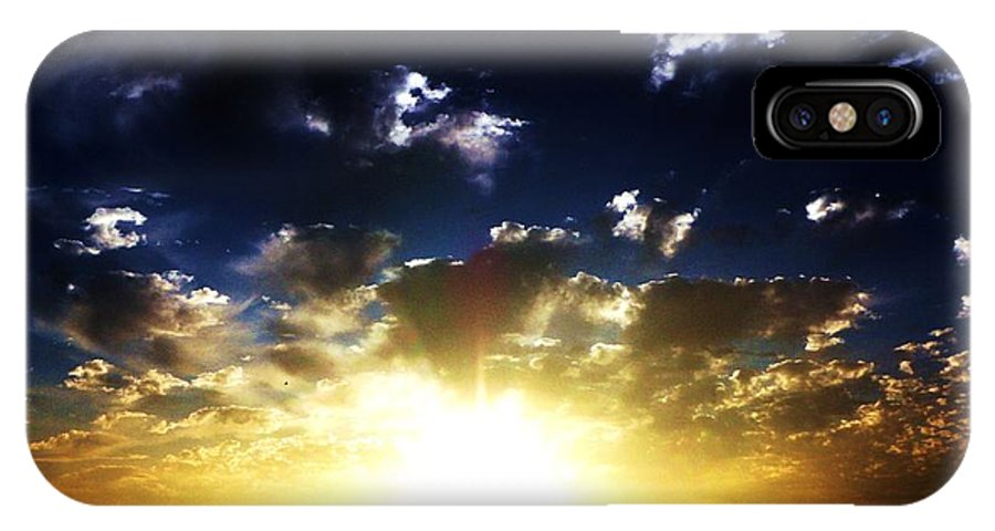 Sunsets IPhone X Case featuring the photograph Glory by Daniele Smith