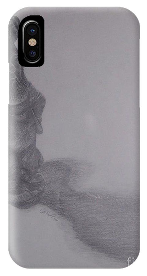 Gnome IPhone Case featuring the drawing Gnome by Emily Young