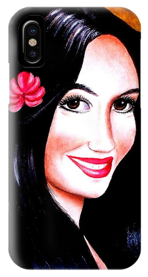 Crayon Pencil On Paper IPhone X Case featuring the painting Go Girl by Monica Vega