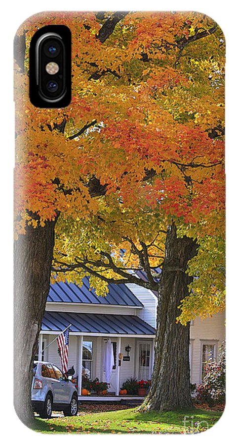 Fall IPhone X Case featuring the photograph Go Right Please by Deborah Benoit