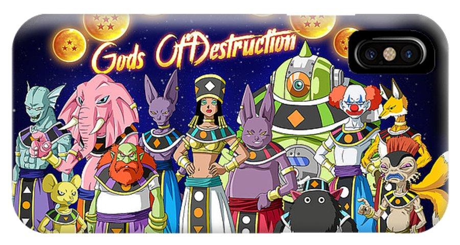 Goku New Form IPhone X Case featuring the digital art God Of Destruction by Babbal Kumar