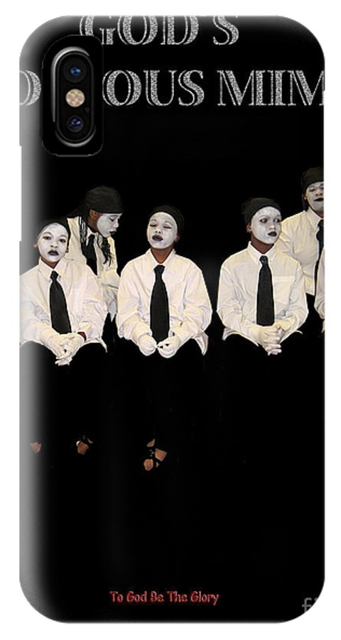Young Mimes Waiting To Perform For God IPhone Case featuring the photograph God by Reggie Duffie