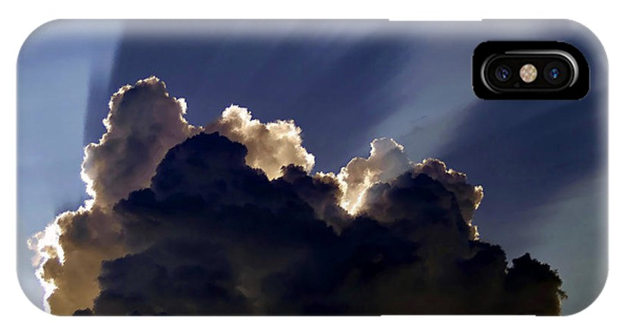 God IPhone X Case featuring the painting God speaking by David Lee Thompson