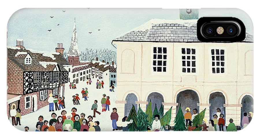 Godalming IPhone X Case featuring the painting Godalming  Surrey by Judy Joel