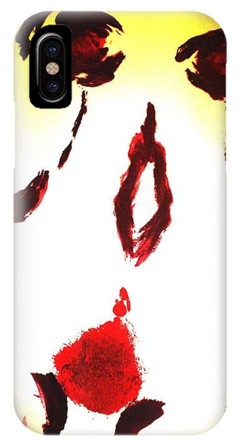 Female IPhone X Case featuring the painting Goddess by Chandelle Hazen