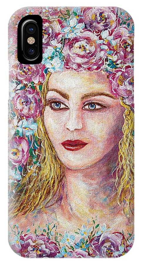 Goddess Of Good Fortune IPhone Case featuring the painting Goddess Of Good Fortune by Natalie Holland