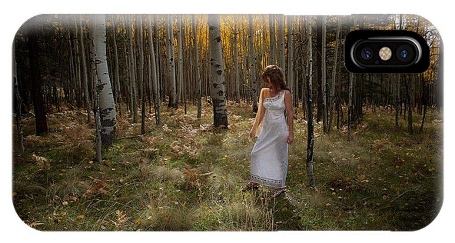 Woman IPhone X Case featuring the photograph Goddess Walk by Scott Sawyer