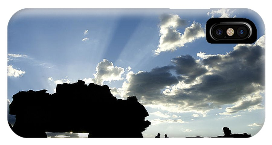 Madagascar IPhone X Case featuring the photograph God's Rays At La Fenetre by Michele Burgess