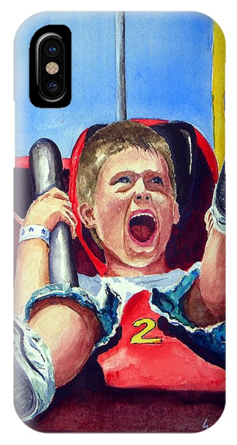 Boy IPhone Case featuring the painting Goin' Down by Sam Sidders