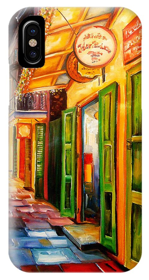 New Orleans IPhone X Case featuring the painting Going Back To New Orleans by Diane Millsap