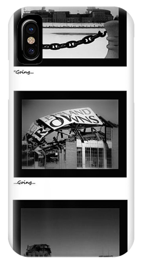 Cleveland IPhone X Case featuring the photograph Going Going Gone by Kenneth Krolikowski