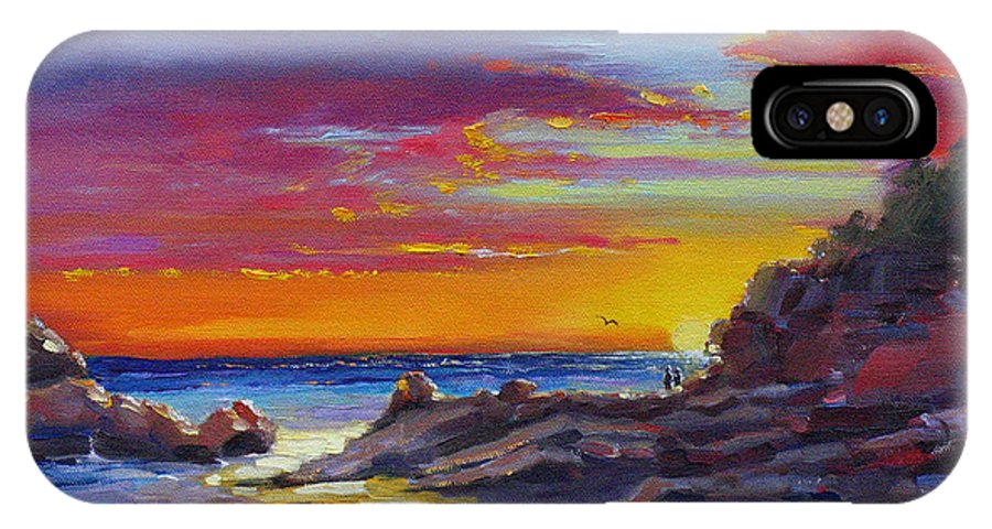 Acrylic Painting IPhone Case featuring the painting Going Going Gone by Laura Lee Zanghetti