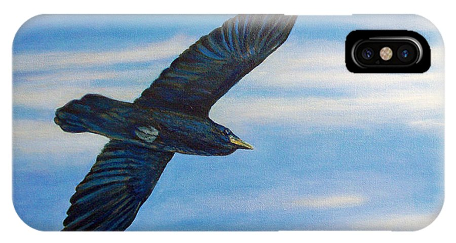 Bird IPhone Case featuring the painting Going Home by Brian Commerford